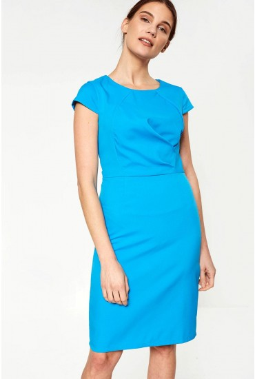 Victoria Midi Dress in Blue