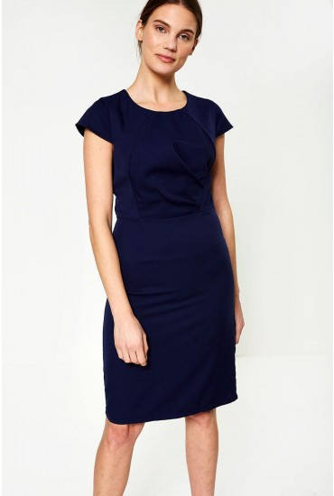 Victoria Midi Dress in Navy