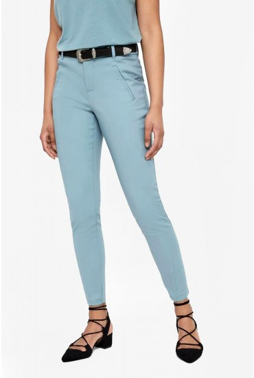 Victoria Petite Ankle Pants in Duck Egg Blue