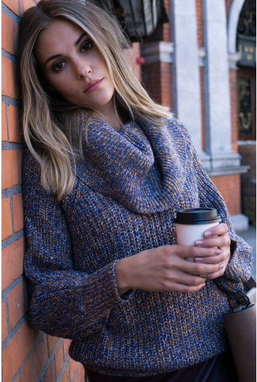 View Cowl Neck Knit Jumper