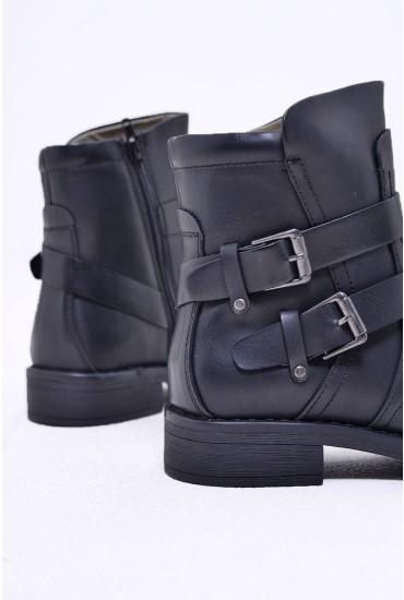 Vilma Biker Boots in Black