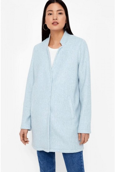 Katrine Long Sleeve Jacket in Light Blue