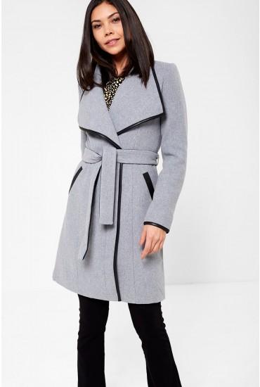 Waterfall Classic 3/4 Wool Jacket in Grey