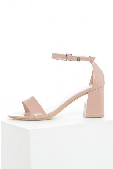 Laura Block Heel Sandals in Mocha