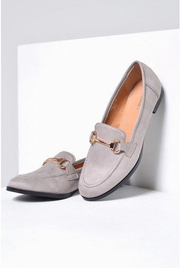 Lucci Loafers in Grey Suede