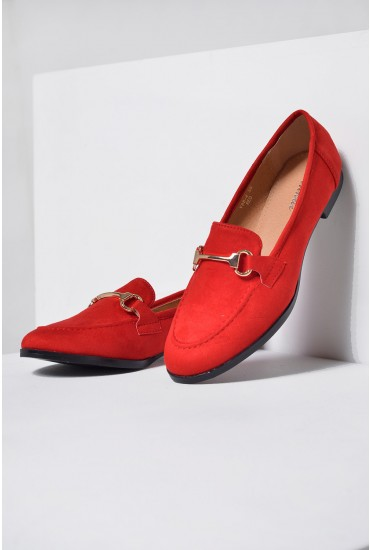 Lucci Loafers in Red Suede