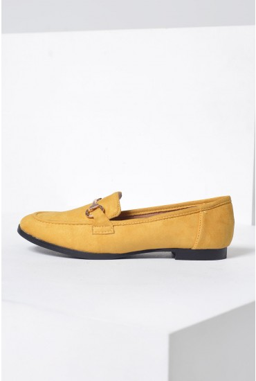Lucci Loafers in Yellow Suede