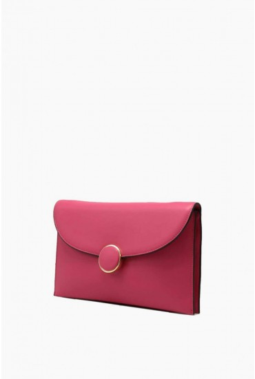 Zoey Clutch Bag in Pink
