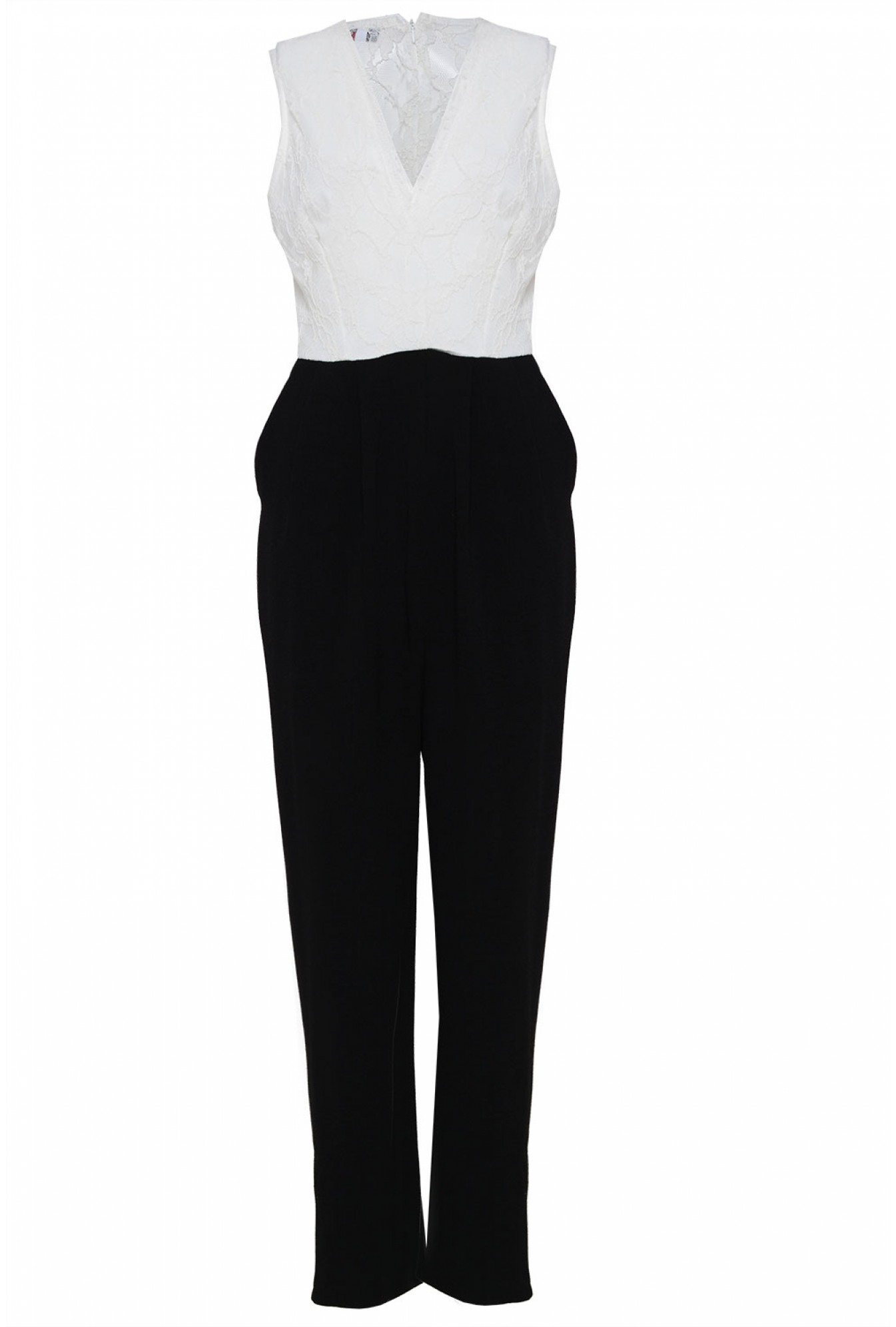 b8e72b3b16d More Views. Gemma Lace Top Jumpsuit in Black and Cream