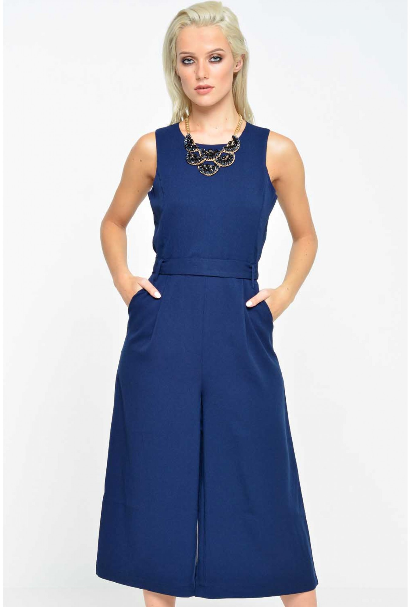 c5d5d913aa More Views. Annie Culotte Jumpsuit in Navy