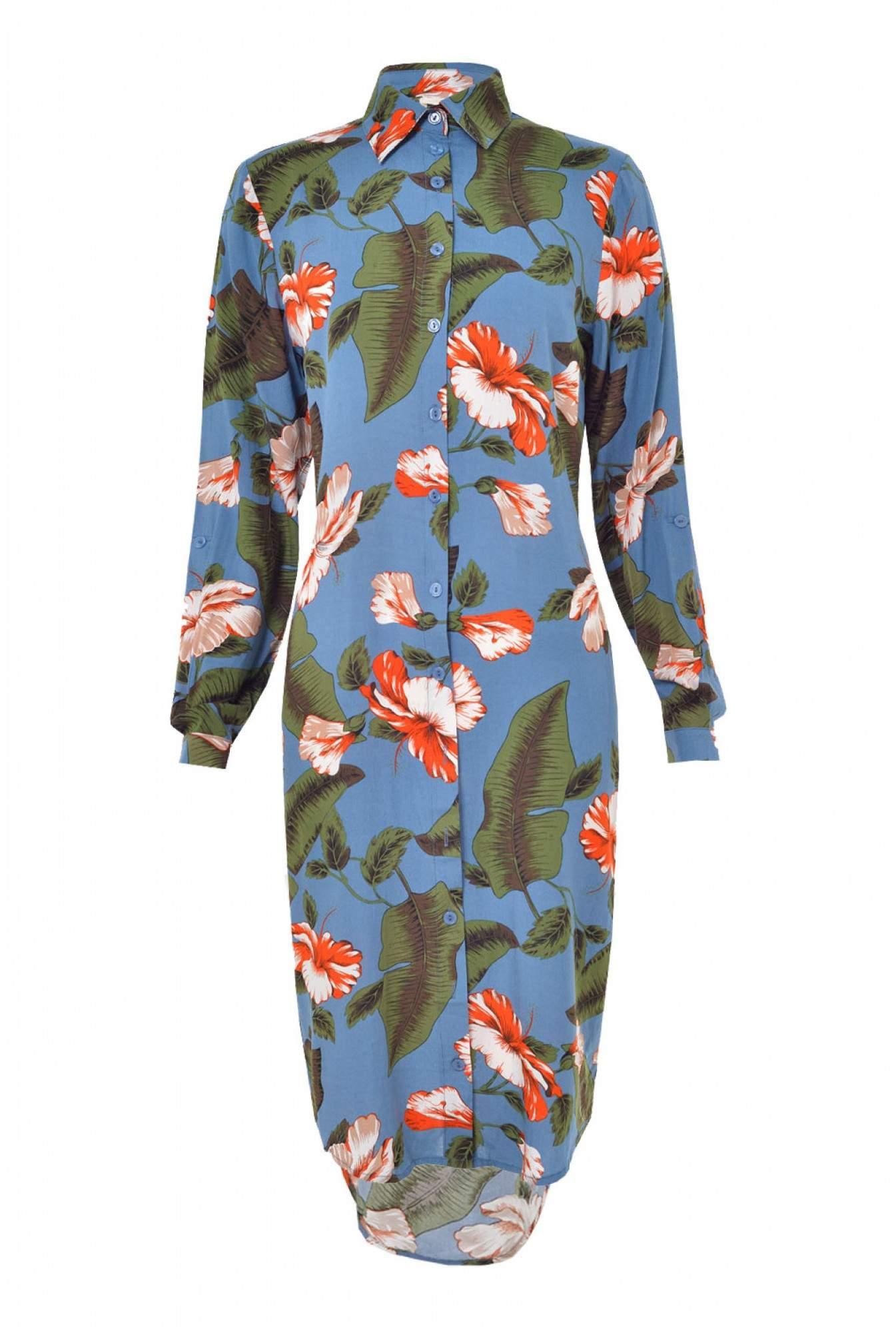 f7e4bfa6a666d More Views. Reva Hawaiian Shirt Dress in Blue. Sugarhill
