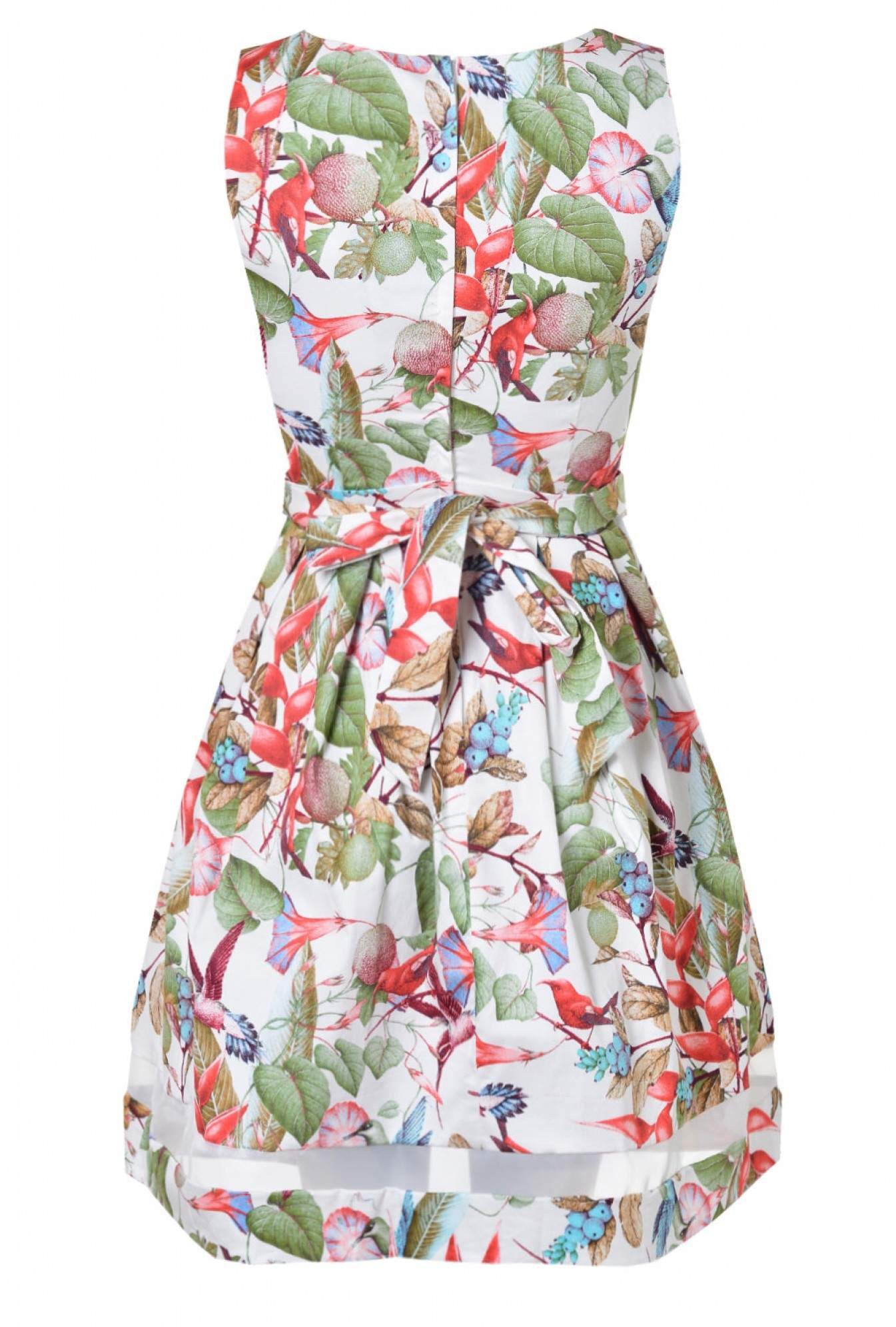 More Views. Vera Printed Skater Dress in Multi White 264999978