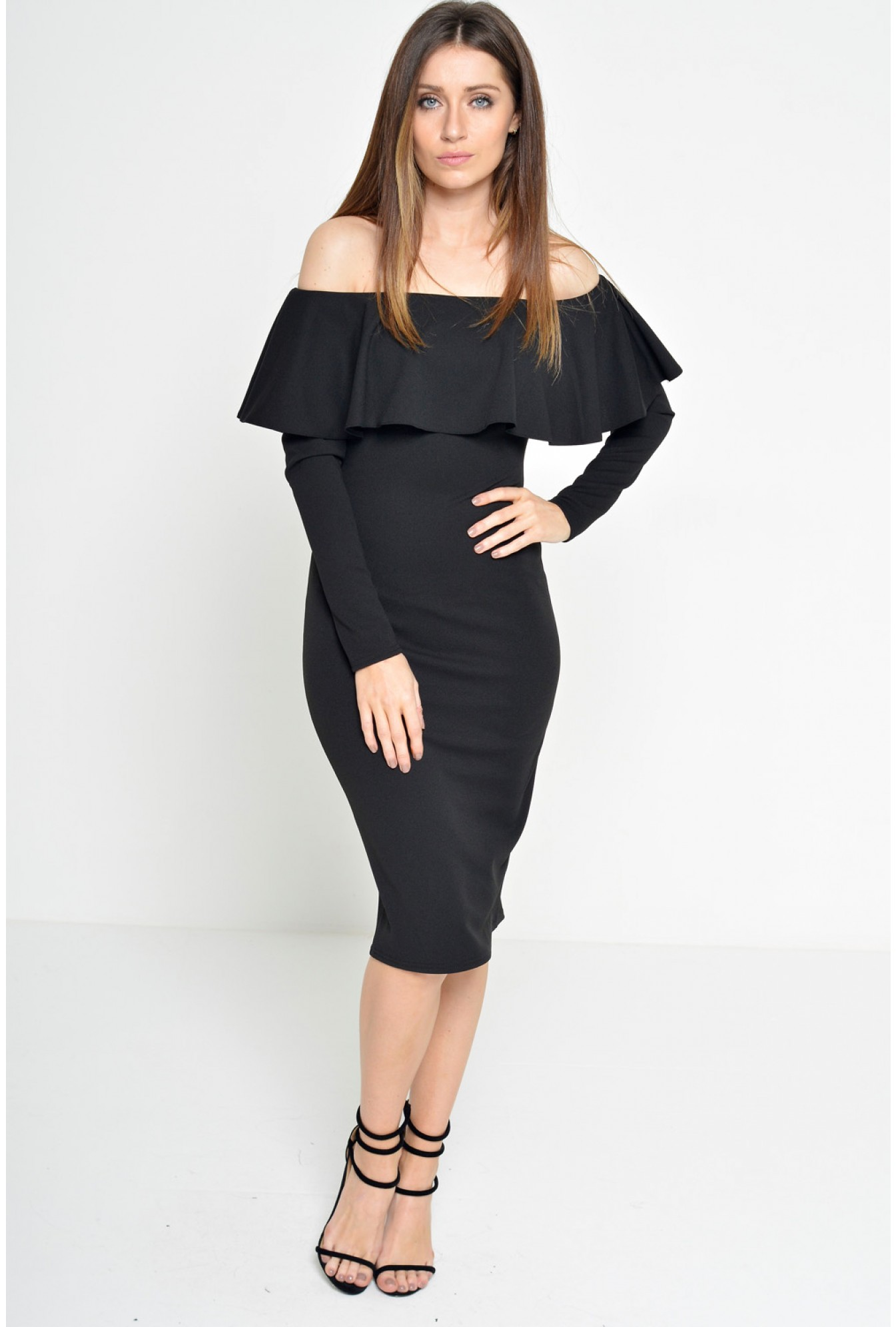 62f7588fed2 More Views. Luella Off Shoulder Long Sleeve Dress in Black. Ad Lib