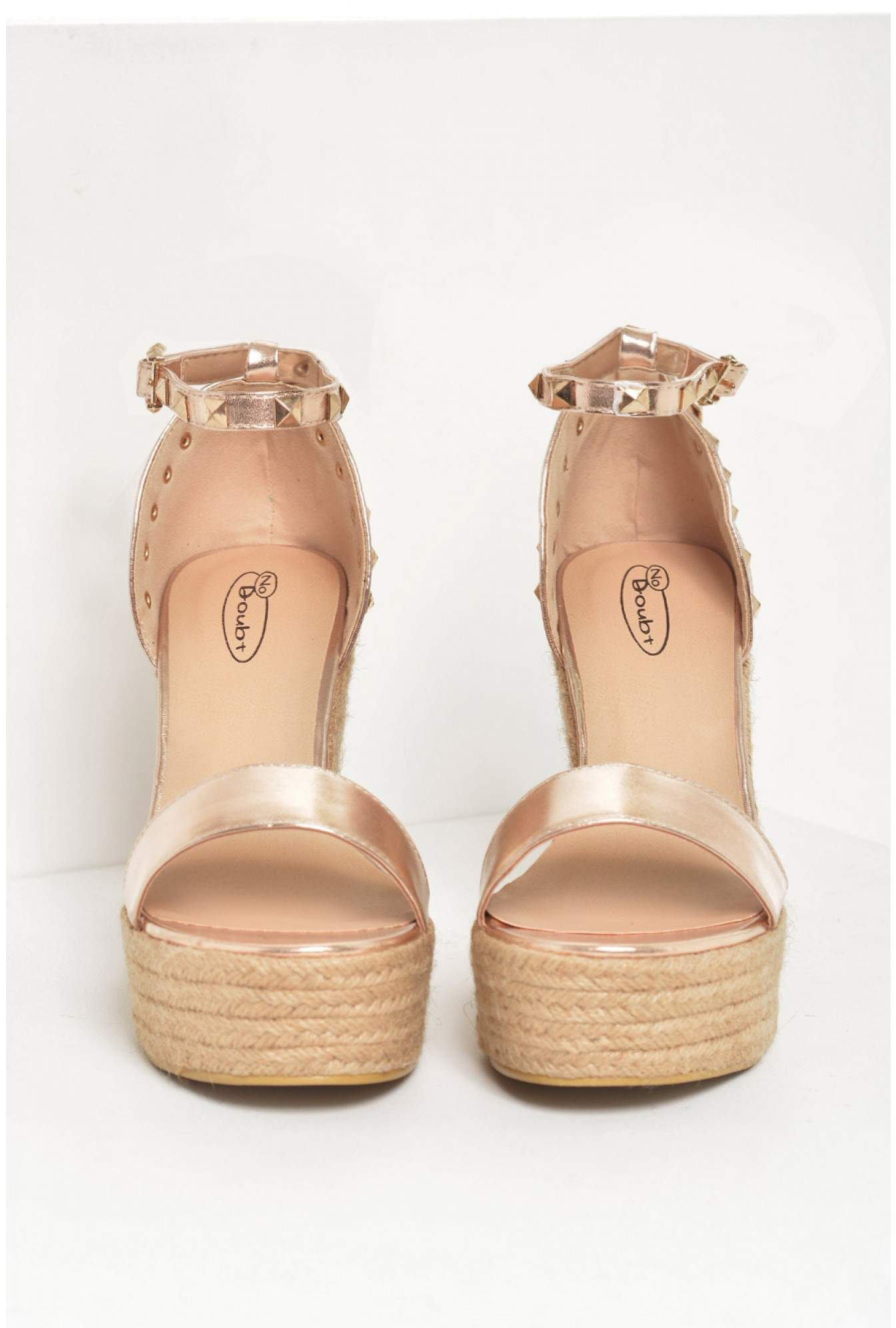 bbd1fd16aace More Views. Rachel Studded Espadrille Wedges in Rose Gold