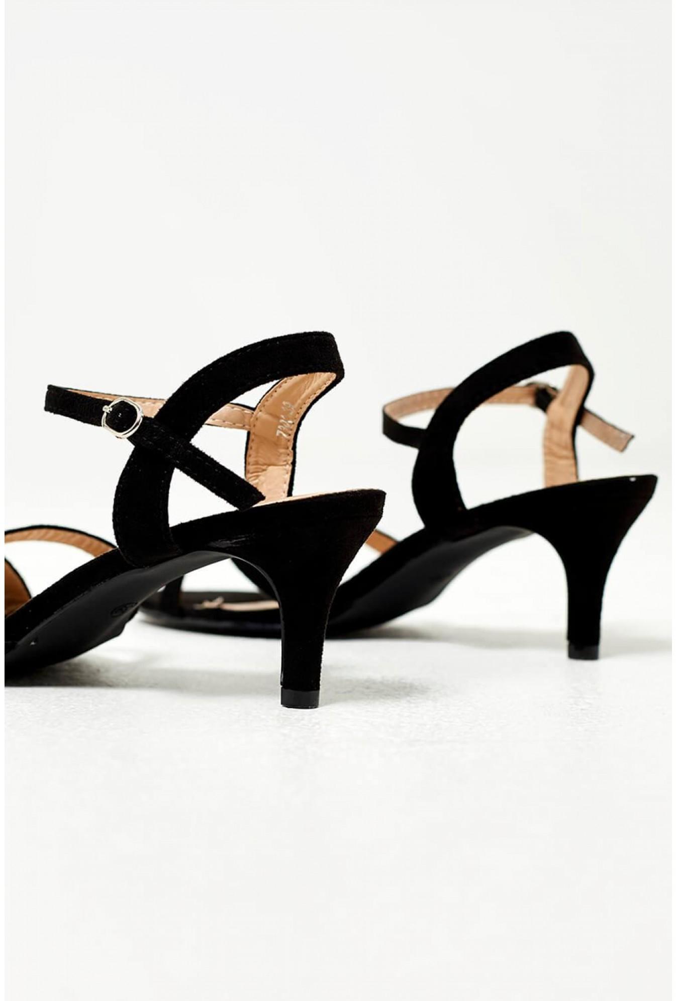 b08f092ec More Views. Ami Kitten Heel Sandals in Black Suede