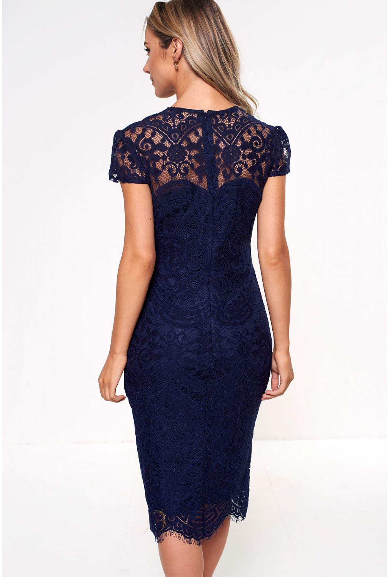 8235e3be40bc4 More Views. Gene Lace Occasion Dress in Navy. city goddess