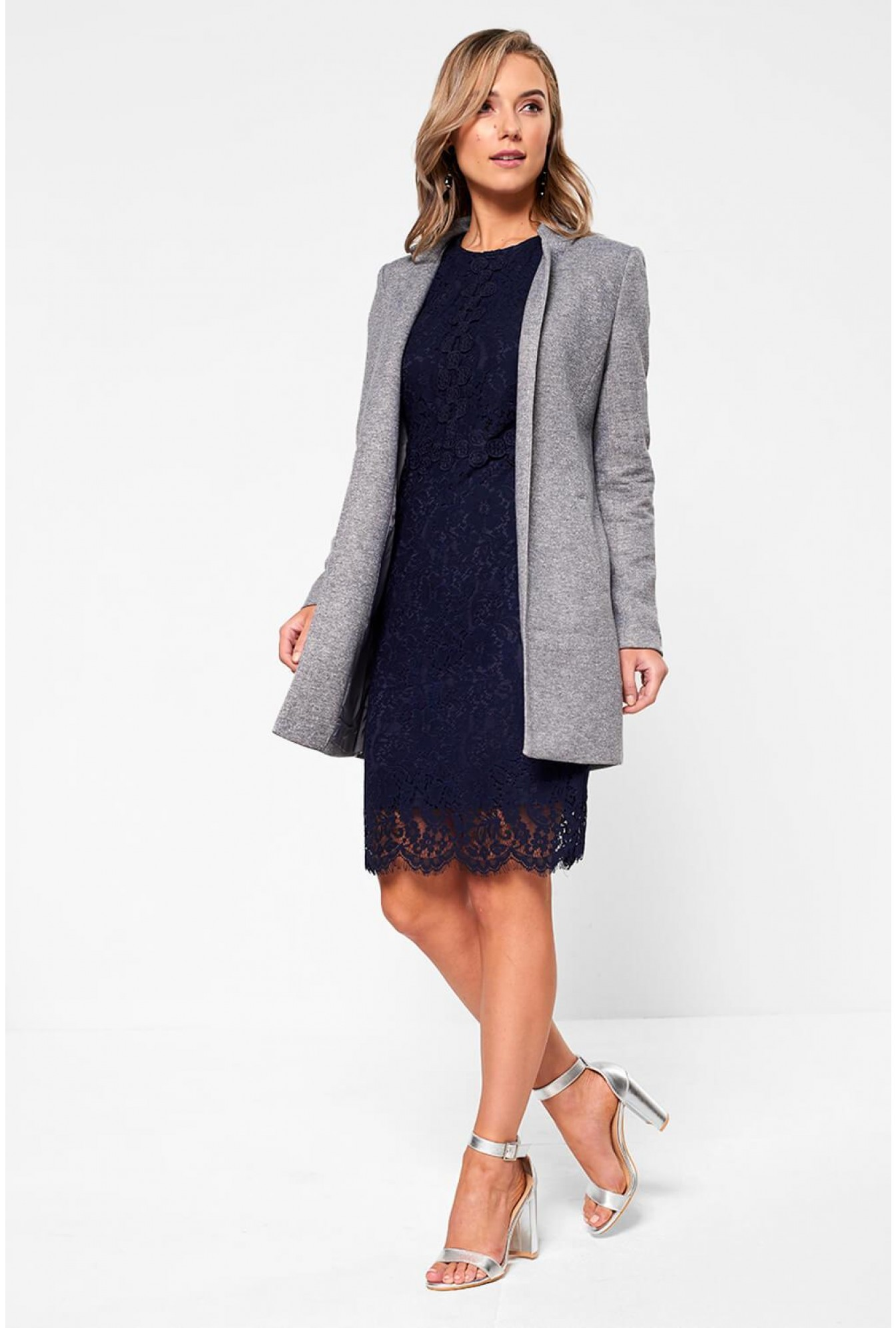 107125f76e57 More Views. Katie Long Sleeve Lace Dress in Navy. Marc Angelo