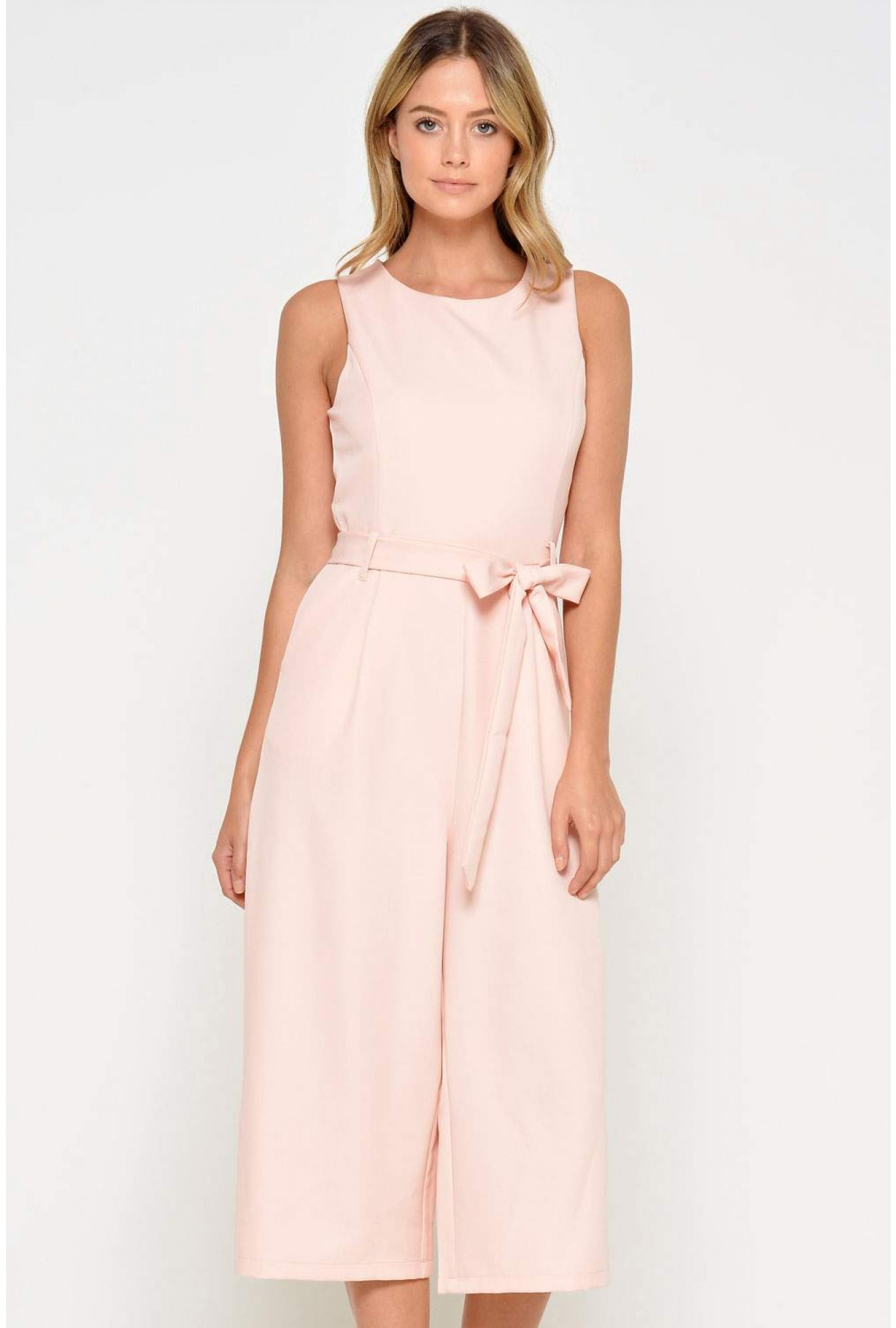 27f093f0b598 Marc Angelo Layla Longline Culotte Jumpsuit in Blush