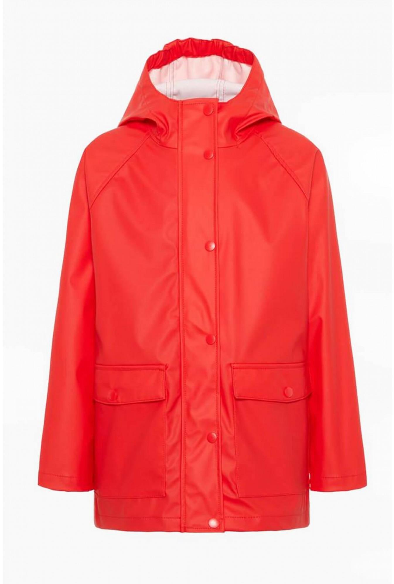 Mil Kids Rain Jacket in Red