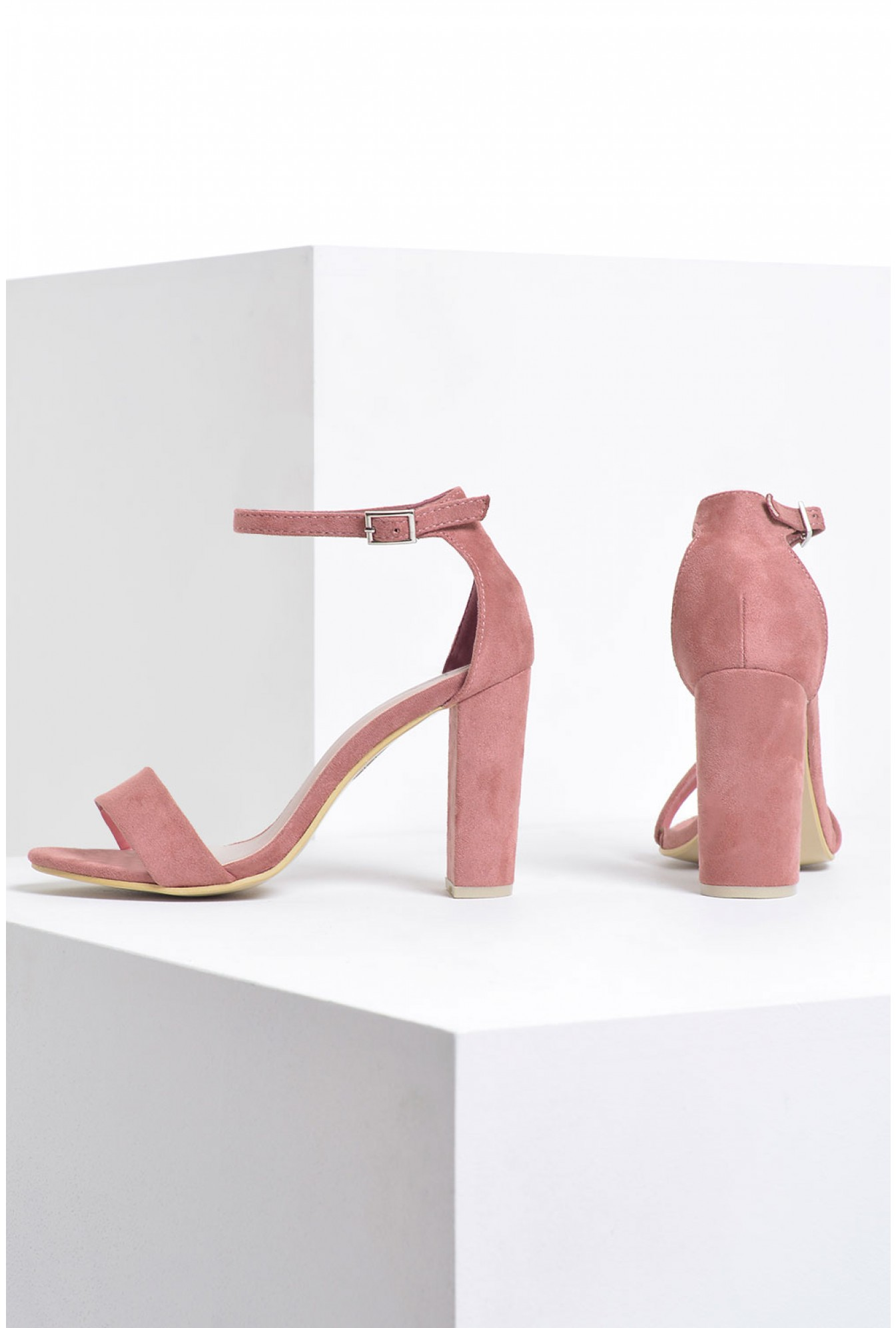 1c5b9ce990 No Doubt Molly Block Heel Sandals in Blush Suede | iCLOTHING