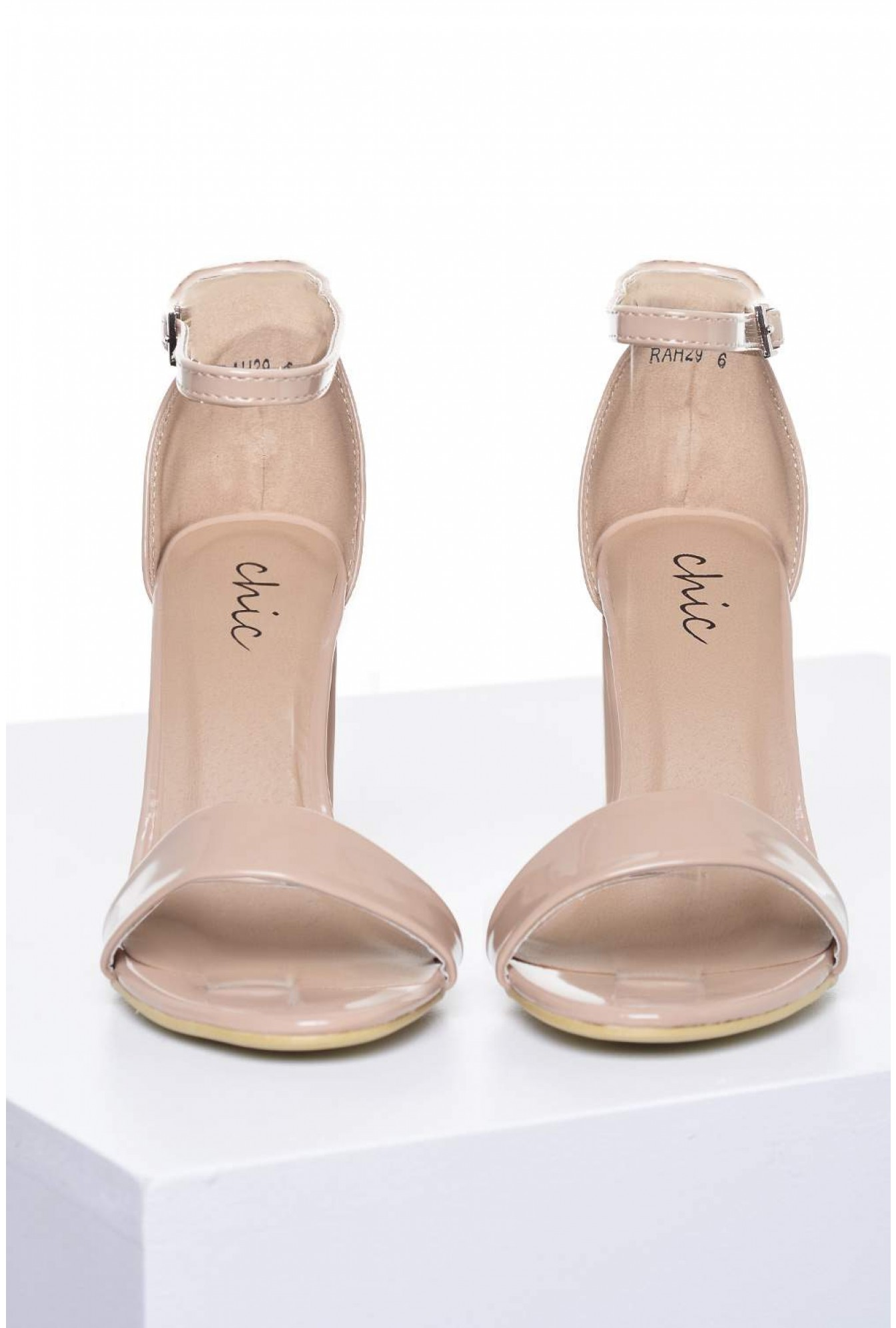 c147bfe6552 More Views. Molly Block Heel Sandals in Nude Patent