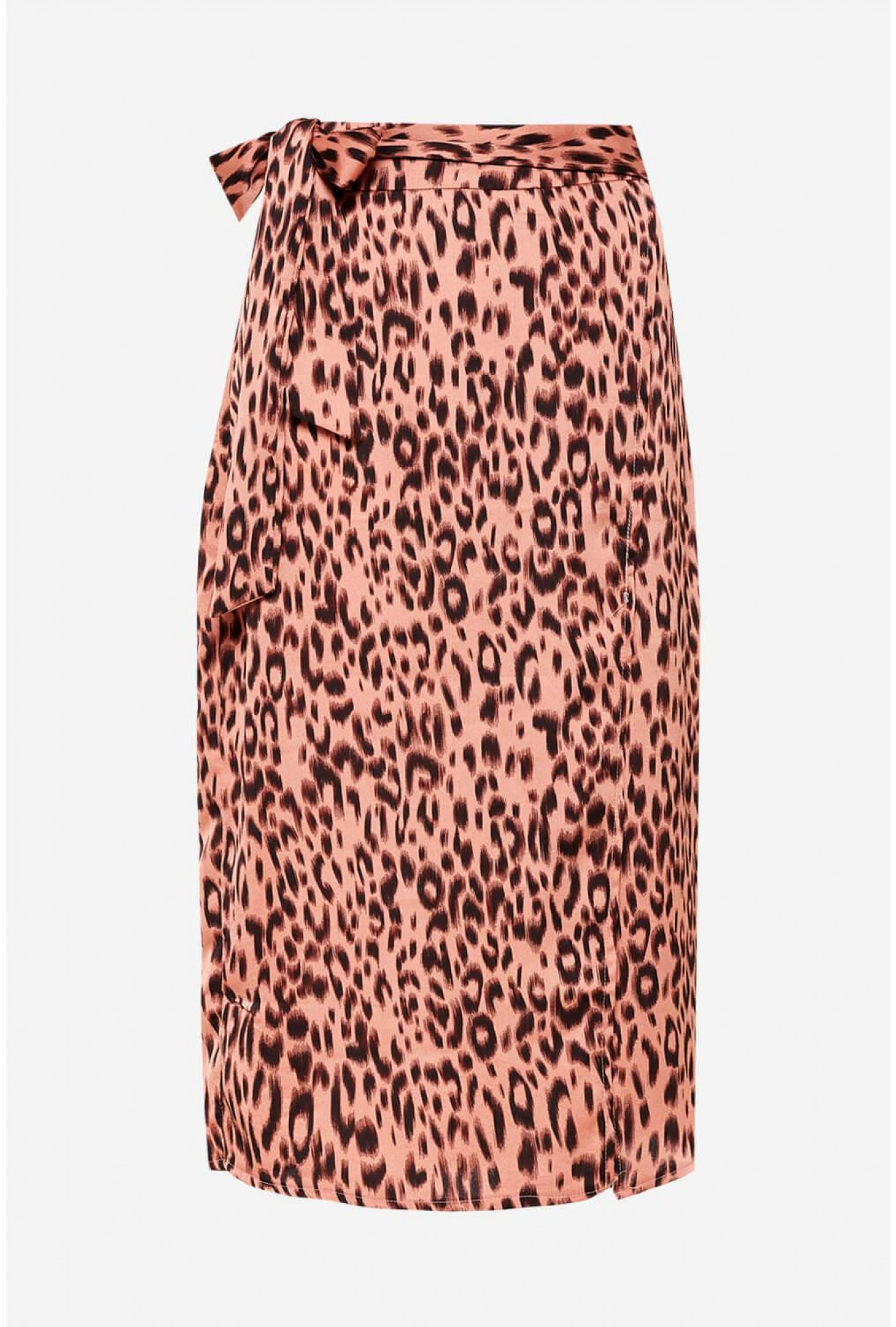 e8367412873b Right By Your Side Blush Pink Floral Print Wrap Midi Skirt