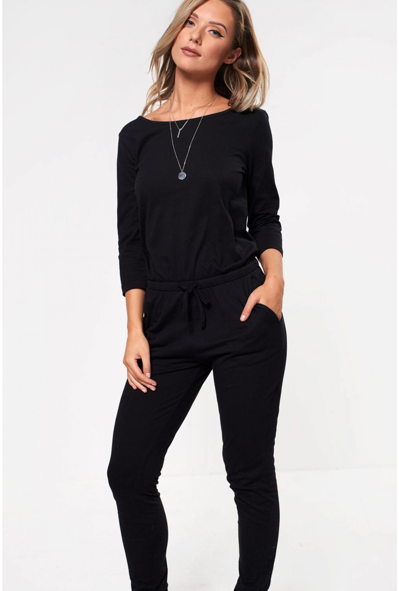 e6353191fd2 Jacqueline De Yong Saki Relaxed Jumpsuit in Black