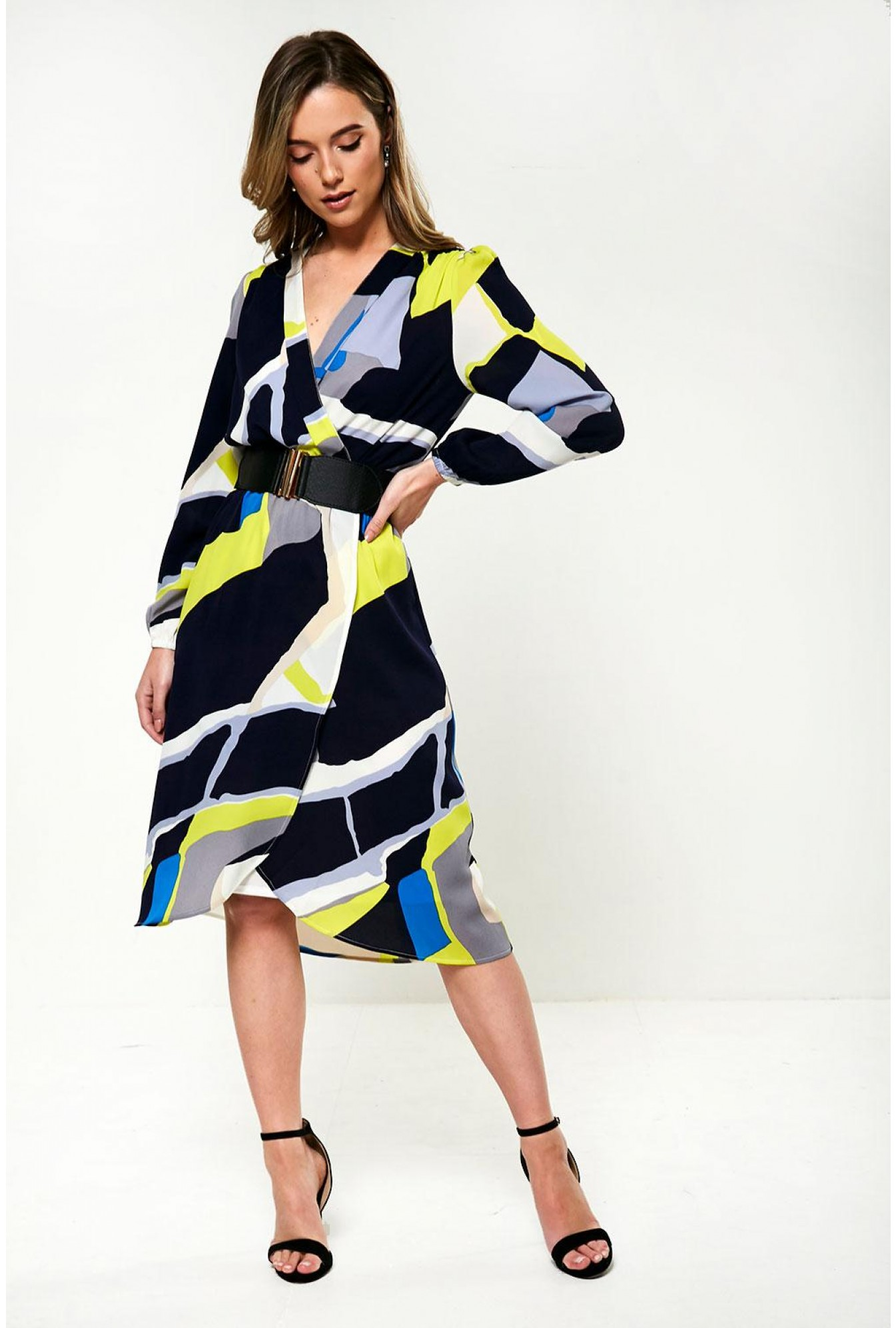 bd84efe879 More Views. Selena Occasion Dress in Abstract Print
