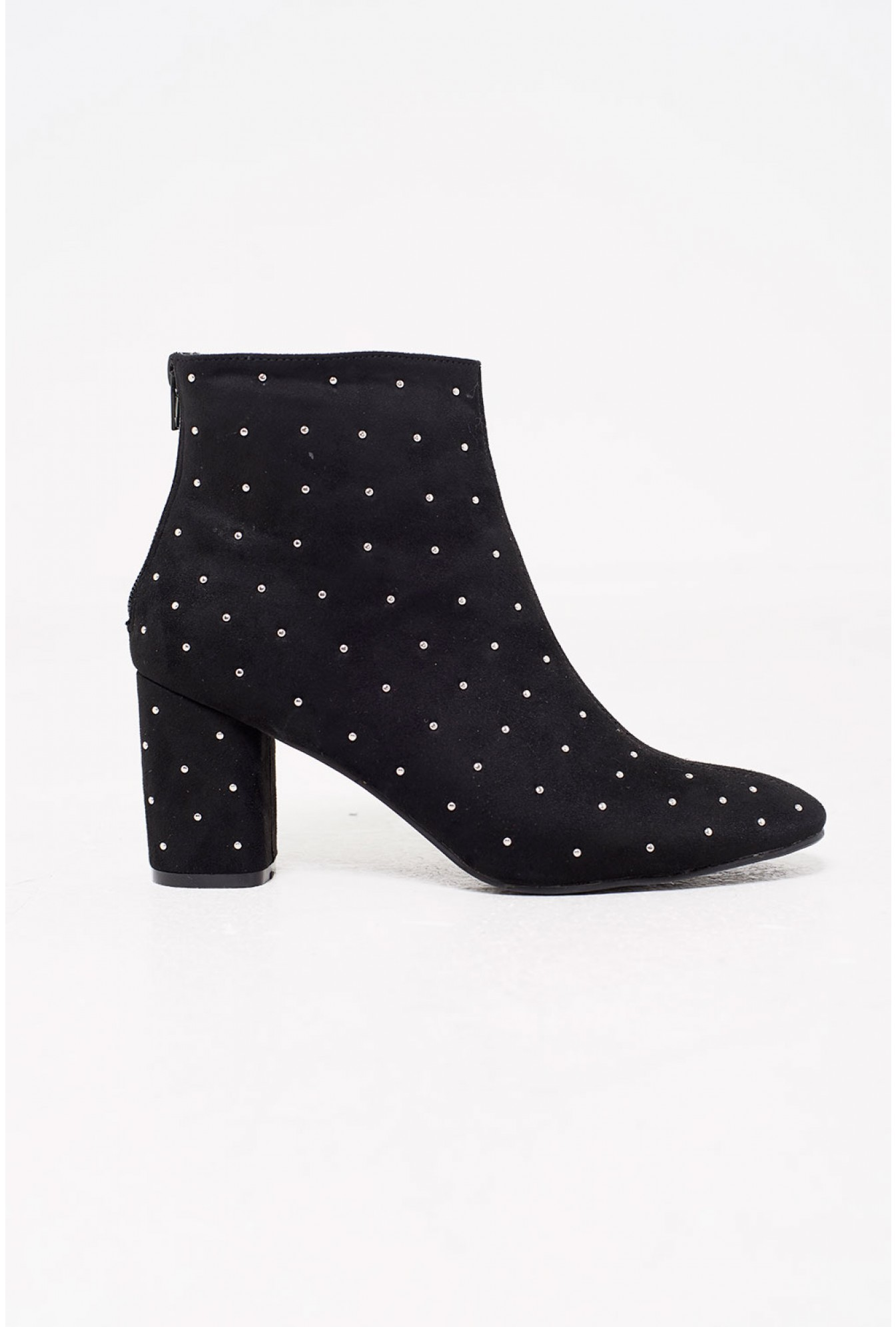 ace378680ad4 No Doubt Lea Studded Heeled Ankle Boots in Black