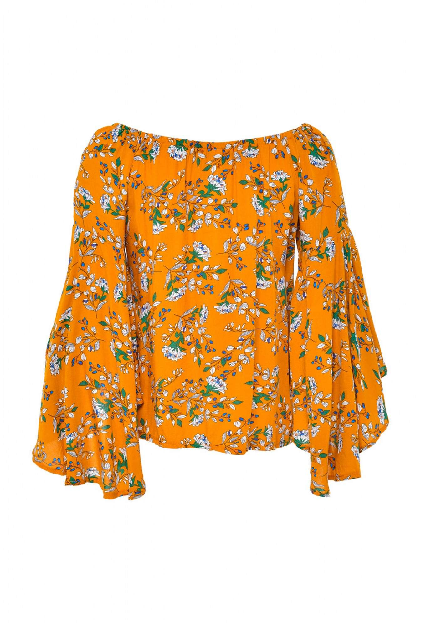3eacf4540fdf29 More Views. Lexi Floral Off Shoulder Top in Mustard